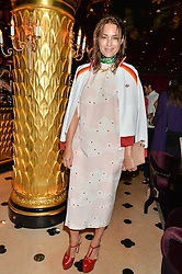 YASMIN LE BON at a party to celebrate Pam Hogg receiving an honorary Doctorate from Glasgow University held at Park Chinois, 17 Berkeley Street, London on 11th July 2016.