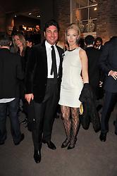 GIORGIO VERONI and TAMARA BECKWITH at the BAFTA Nominees party 2011 held at Asprey, 167 New Bond Street, London on 12th February 2011.