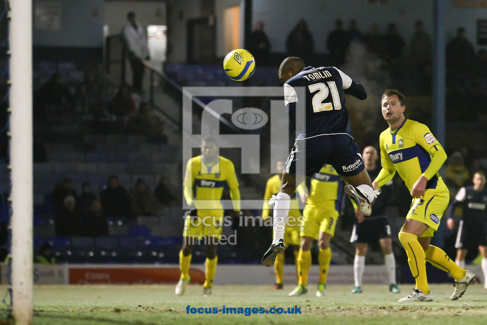 Picture by David Horn/Focus Images Ltd +44 7545 970036.11/12/2012.Gavin Tomlin of Southend United scores during The FA Cup match at Roots Hall, Southend.