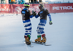 Felicetti Mirko in Coratti Edwin during the FIS snowboarding world cup race in Rogla (SI / SLO) | GS on January 20, 2018, in Jasna Ski slope, Rogla, Slovenia. Photo by Urban Meglic / Sportida