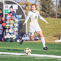4th year forward, Kirsten Finley (11) of the Regina Cougars during the Women's Soccer home game on Sun Oct 07 at U of R Field. Credit: Arthur Ward/Arthur Images