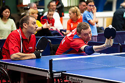 MAJOR Endre (HUN) and LAVROV Dmitry (RUS) during Team events at Day 4 of 16th Slovenia Open - Thermana Lasko 2019 Table Tennis for the Disabled, on May 11, 2019, in Dvorana Tri Lilije, Lasko, Slovenia. Photo by Vid Ponikvar / Sportida