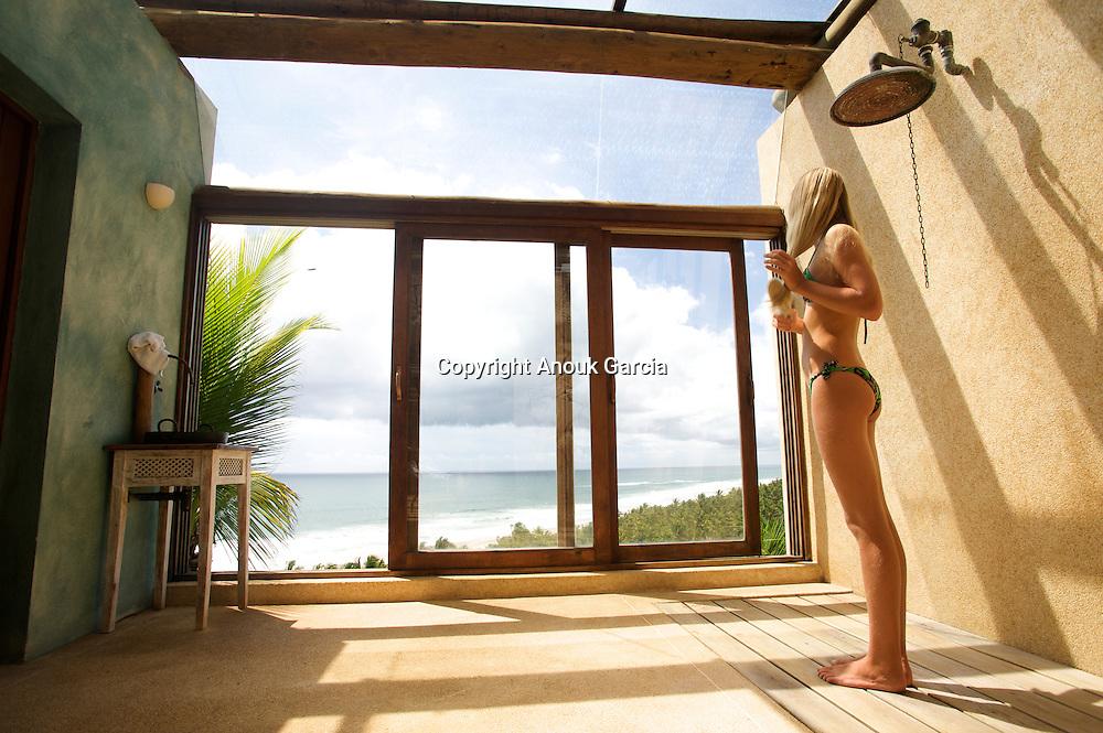 Hotel Txai. View to infinity from the Spa   Hotel Txai. Vue sur plage a l'infini depuis le Spa Adresses de charmes, adresses secrètes au Brésil