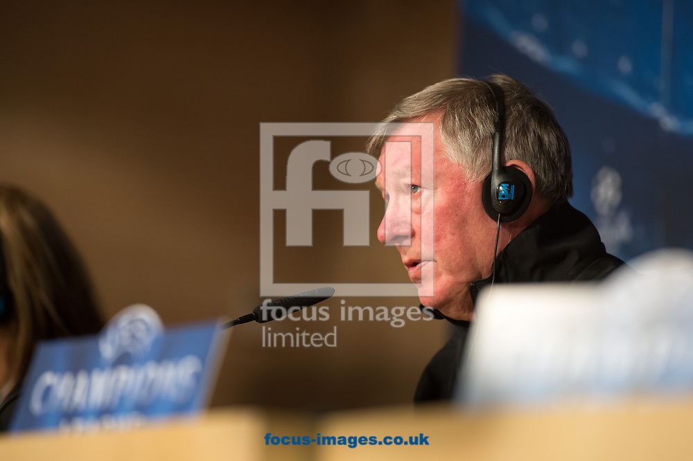 Picture by Sam Wordley/Focus Images Ltd +34 605 350 422.12/02/2013.Alex Ferguson of Manchester United during a press conference ahead of the last 16 Champions League match  at Santiago Bernabeu, Madrid.