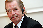"""Former Czech President Vaclav Havel during a ceremony at the Prague Goethe Institute receiving the """"Dolf Sternberg"""" price on the 23rd of October 2007 (archive image). Havel died on the 18th of December 2011 in the age of 75 years."""