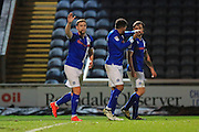 GOAL Steven Davies celebrates Rochdale 3-0 during the EFL Sky Bet League 1 match between Rochdale and Walsall at Spotland, Rochdale, England on 22 November 2016. Photo by Daniel Youngs.