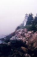Located on Mount Dessert Island, Maine, USA.The history of Bass Harbor Head Light started in 1855 when it was deemed that there was sufficient reason for a lighthouse at the mouth of Bass Harbor. $5000 was appropriated by Congress for its construction in 1858. The construction of a fog bell and tower, which no longer remains today,[1] was completed in 1876 with a much larger 4000 pound (1800 kg) bell being placed inside the tower in 1898.[6] The keeper's house remains in its original configuration with the exception of a 10-foot addition that was added in 1900.[6] The lighthouse was added to the National Register of Historic Places as Bass Harbor Head Light Station on January 21, 1988