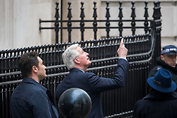 © Licensed to London News Pictures. 05/02/2018. London, UK. European Chief Negotiator MICHEL BARNIER arrives at Downing Street in London ahead of a meeting with British Brexit secretary DAVID DAVIS. Photo credit: Ben Cawthra/LNP