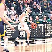 \2nd year guard, Faith Reid (13) of the Regina Cougars during the Women's Basketball Home Game on Fri Nov 02 at Centre for Kinesiology,Health and Sport. Credit: Arthur Ward/Arthur Images