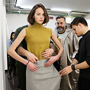 Milano, February 22nd, 2015. Fitting for Next Generation fashion show.