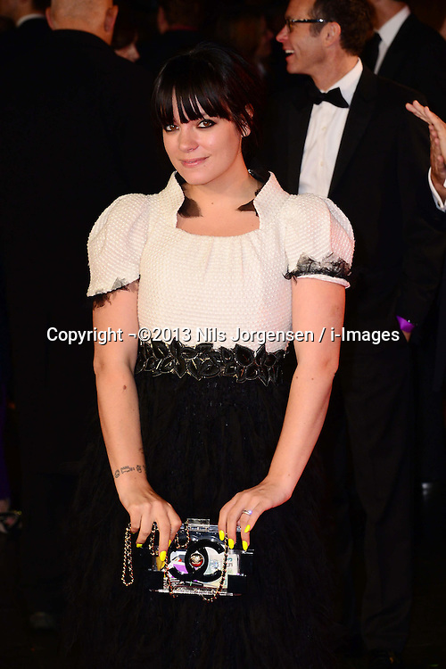 Lily Allen at the World Premiere of 'Saving Mr Banks'. Odeon, London, United Kingdom. Sunday, 20th October 2013. Picture by Nils Jorgensen / i-Images