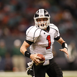 2008 December 13: Belle Chasse quarterback Blake Matherne runs with the ball during the Class 4A LHSAA State Championship game, between the Belle Chasse Cardinals and the Archbishop Shaw Eagles at the Louisiana Superdome in New Orleans, LA. On Wednesday, February 4, 2009 he signed to play college footbal at Nicholls State University. (photo by Derick Hingle)