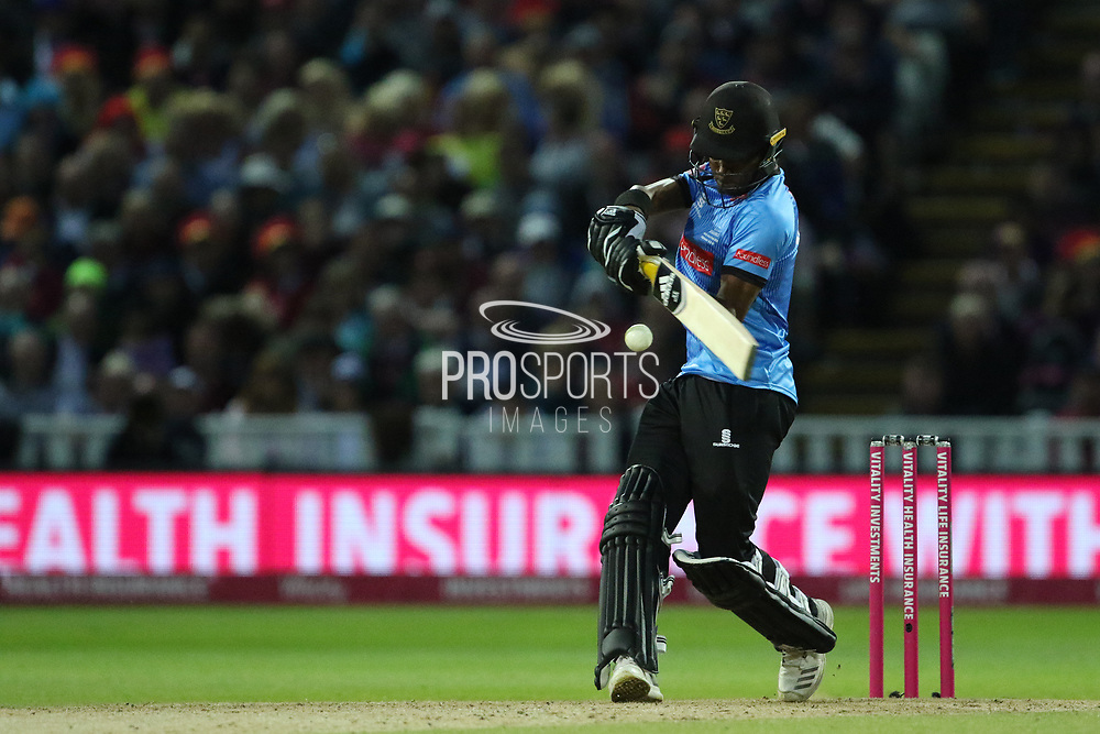Sussex's Delray Rawlins during the final of the Vitality T20 Finals Day 2018 match between Worcestershire rapids and Sussex Sharks at Edgbaston, Birmingham, United Kingdom on 15 September 2018.