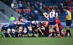 Bristol Rugby and Doncaster Knights scrum - Mandatory by-line: Robbie Stephenson/JMP - 13/01/2018 - RUGBY - Castle Park - Doncaster, England - Doncaster Knights v Bristol Rugby - B&I Cup