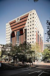 Exterior view of The Portland Building, designed by Michael Graves