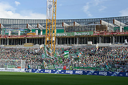 28.08.2010, Weser Stadion, Bremen, GER, 1.FBL, Werder Bremen vs 1. FC Koeln im Bild  Fankurve in der Baustelle    EXPA Pictures © 2010, PhotoCredit: EXPA/ nph/  Kokenge+++++ ATTENTION - OUT OF GER +++++
