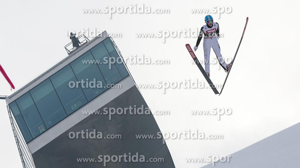 03.01.2015, Bergisel Schanze, Innsbruck, AUT, FIS Ski Sprung Weltcup, 63. Vierschanzentournee, Innsbruck, Training, im Bild Daniele Varesco (ITA) // Daniele Varesco of Italy soars through the air during a training session for the 63rd Four Hills Tournament of FIS Ski Jumping World Cup at the Bergisel Schanze in Innsbruck, Austria on 2015/01/03. EXPA Pictures © 2015, PhotoCredit: EXPA/ Jakob Gruber