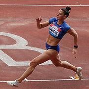 Ivana Spanovic, Serbia, Women's Long Jump, during the Muller Grand Prix at the Alexander Stadium, Birmingham, United Kingdom on 18 August 2019.