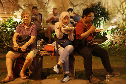 May 13, 2019 - Jakarta, Capital Region of Jakarta, Indonesia - Muslims and Chinese community enjoy break fasting together, call Iftar, during the Islamic holy fasting month of Ramadhan at Dharma Bhakti Tample, Jakarta, on May 13, 2019. The Indonesian Chinese Budhist community in collaboration with the Indonesia Chinese Muslim community held a join iftar by distributing hundreds of iftar meals for muslims around the Dharma Bhakti tample as a form of tolerance and maintaining  inter-religious harmony in Indonesia. The event held from May 7 until May 29. (Credit Image: © Aditya Irawan/NurPhoto via ZUMA Press)