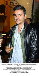 MARCUS CONSTABLE at a party in London on 19th November 2003.<br /> POT 145