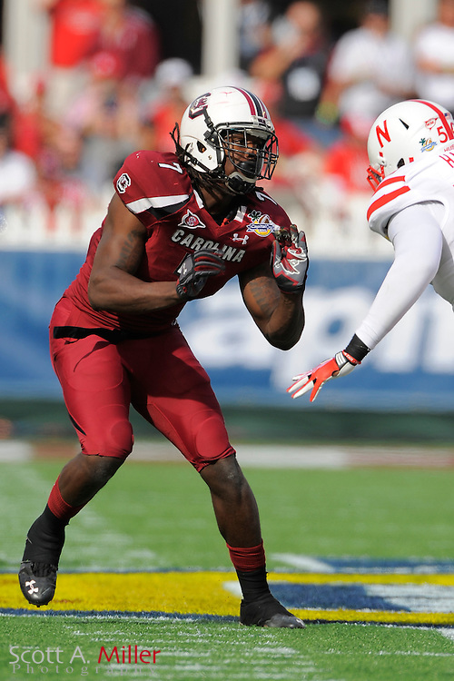 South Carolina Gamecocks defensive end Jadeveon Clowney (7) during the Capital One Bowl against the Nebraska Cornhuskers at Florida Citrus Bowl on Jan. 2, 2012 in Orlando, Fla. South Carolina won 30-13...©2012 Scott A. Miller