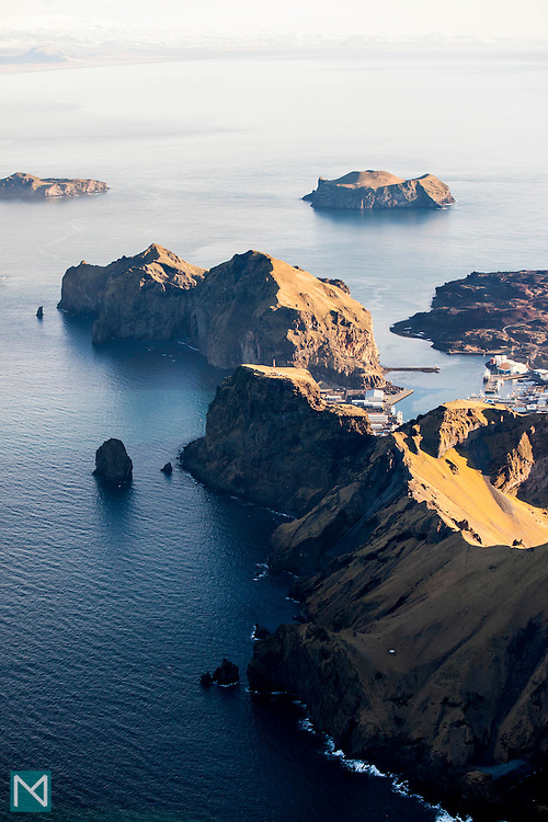 The harbour at Vestmannaejyar on the island of Heimaey in Iceland's Westman Islands