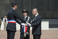 Home French minister Bernard Cazeneuve expect annual ceremony of naming of the Superintendents and Police Lieutenant Promotion 2014 at NPHS, French Higher Police School in Saint-Cyr au Mont d'Or.