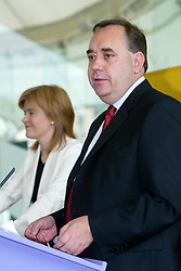 Alex Salmond elected leader of the SNP, and Nicola Sturgeon elected deputy leader. The SNP leadership election result at Dynamic Earth, 3/9/2004.