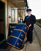 Norman the Stationmaster on the Lincolnshire Wolds Railway at North Thoresby
