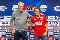 ALKMAAR - 30-01-2017, Johas Svensson, contract , AFAS Stadion, Hugo Hovenkamp.