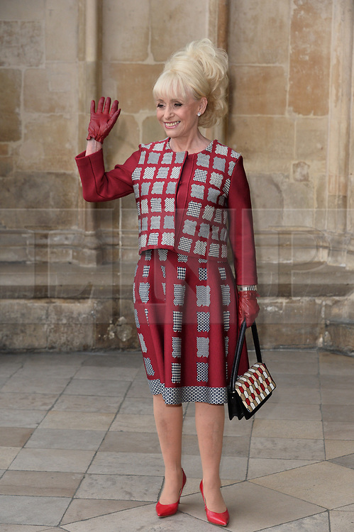 © Licensed to London News Pictures. 07/06/2017. London, UK. BARBARA WINDSOR attends a service of Thanksgiving for the life and work of RONNIE CORBETT at Westminster Abbey. The entertainer, comedian, actor, writer, and broadcaster was best known for his long association with Ronnie Barker in the BBC television comedy sketch show The Two Ronnies. Photo credit: Ray Tang/LNP