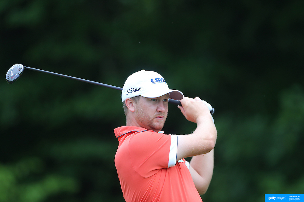 Brice Garnett, USA, in action during the first round of the Travelers Championship at the TPC River Highlands, Cromwell, Connecticut, USA. 19th June 2014. Photo Tim Clayton