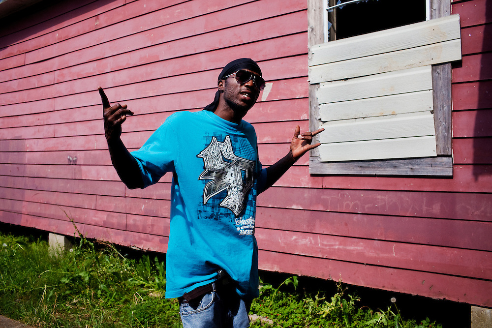 "Roger ""Winky"" Williams poses for a photo in the Baptist Town neighborhood of Greenwood, Mississippi on Wednesday, May 19, 2010."
