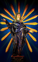 """""""Three-dimensional artistic impression of Glorious Our Lady of Sorrows - Cathedral of San Rufino, Assisi""""...<br /> <br /> Although every building in Assisi celebrates Saint Francis, the city's cathedral is dedicated to San Rufino. It's named for Assisi's patron saint, a former 3rd-century bishop, and martyr. After converting Assisi to Christianity, he was killed by drowning in a nearby river. The cathedral has been a very important aspect of the history of the Franciscan order. It was here that Saint Francis, Saint Clare, and many of their original disciples were baptized. Hearing Francis preaching in this church in 1209, Saint Clare became deeply touched by his message and realized her calling. In 1228, here for the canonization of Saint Francis, Pope Gregory IX consecrated the high altar. A humorous story of the relics of Saint Rufino remaining in this ancient church before it was consecrated as a Cathedral is part of history. The townspeople fought for the saint's body with the current Bishop Ugone, who wanted to move it to the Cathedral of Santa Maria Maggiore. The citizens took a position against the move and started a real """"tug of war"""" with the saint's coffin. The sixty Bishops' men were beaten by only seven Assisi citizens. The victory was seen as miraculous, even by Ugone, who then decided to renovate the small Basilica, which eventually became the Cathedral for Assisi. Altare dell' Addolorata consists of this dramatic statue of the Madonna Addolorata from 1672. Luke 2:34-35 """"And Simeon blessed them, and said to Mary his mother: Behold this child is set for the fall and for the resurrection of many in Israel, and for a sign which shall be contradicted; And thy own soul a sword shall pierce, that out of many hearts thoughts may be revealed."""""""