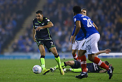Liam Sercombe of Bristol Rovers keeps the pressure up on Portsmouth - Mandatory by-line: Jason Brown/JMP - 26/09/2017 - FOOTBALL - Fratton Park - Portsmouth, England - Portsmouth v Bristol Rovers - Sky Bet League One