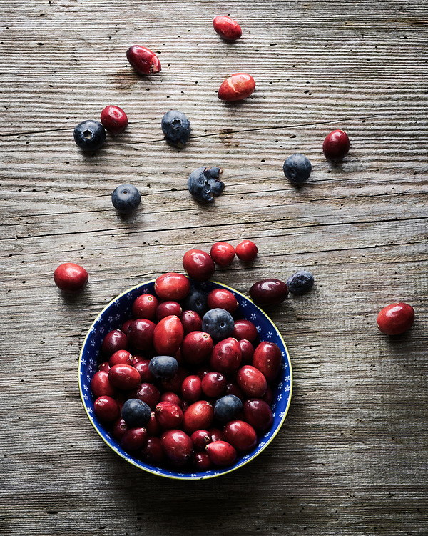 Cranberries and blueberries, Brechin, Scotland