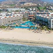 Aerial View of Hyatt Ziva Los Cabos. Baja California Sur. Mexico.