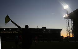 07 January 2018 FA Cup 3rd round Nottingham - Nottingham Forest v Arsenal - the assistant referee Edward Smart silhouetted against the sky.<br /> (photo by Mark Leech)