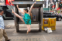 Times Square Dance As Art- The New York Photography Project featuring ballerina Anna Polyachenko
