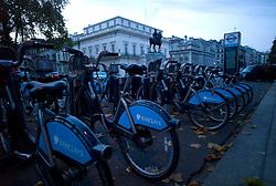 UK ENGLAND LONDON 23NOV11 - barclays loan bicycle stand on Lower Regent Street in the West End, central London.....jre/Photo by Jiri Rezac....© Jiri Rezac 2011