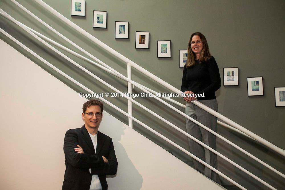 Tammy McKerrow, senior design principal, and Oleg Kiselev, senior designer of The Jerde Partnership Inc. (Photo by Ringo Chiu/PHOTOFORMULA.com)