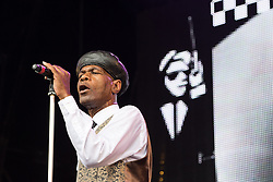 © Licensed to London News Pictures . 09/08/2015 . Siddington , UK . THE SELECTER perform . The Rewind Festival of 1980s music , fashion and culture at Capesthorne Hall in Macclesfield . Photo credit: Joel Goodman/LNP