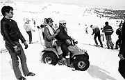 Dangerous Sports club ski race, St. Moritz. 1985. © Copyright Photograph by Dafydd Jones 66 Stockwell Park Rd. London SW9 0DA Tel 020 7733 0108 www.dafjones.com