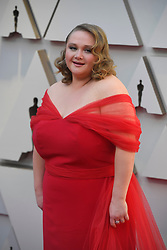 February 24, 2019 - Los Angeles, California, U.S - 'Dumplin' actress DANIELLE MACDONALD, wearing a red Christian Siriano dress, during red carpet arrivals for the 91st Academy Awards, presented by the Academy of Motion Picture Arts and Sciences (AMPAS), at the Dolby Theatre in Hollywood. (Credit Image: © Kevin Sullivan via ZUMA Wire)