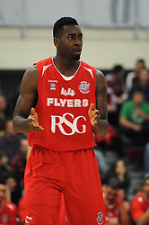 Bristol Flyers' Alif Bland - Photo mandatory by-line: Dougie Allward/JMP - Mobile: 07966 386802 - 15/11/14 - SPORT - Basketball - Bristol - SGS Wise Campus - Bristol Flyers v Cheshire Phoenix - British Basketball League