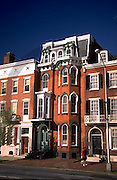Harrisburg, PA, Front Street Scapes, Historic Row Houses, Urban Architecture