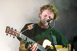 "Ben Howard plays the Goldenvoice Arena. Sunday, Rockness 2013, the annual music festival which took place in Scotland at Clune Farm, Dores, on the banks of Loch Ness, near Inverness in the Scottish Highlands. The festival is known as ""the most beautiful festival in the world""."