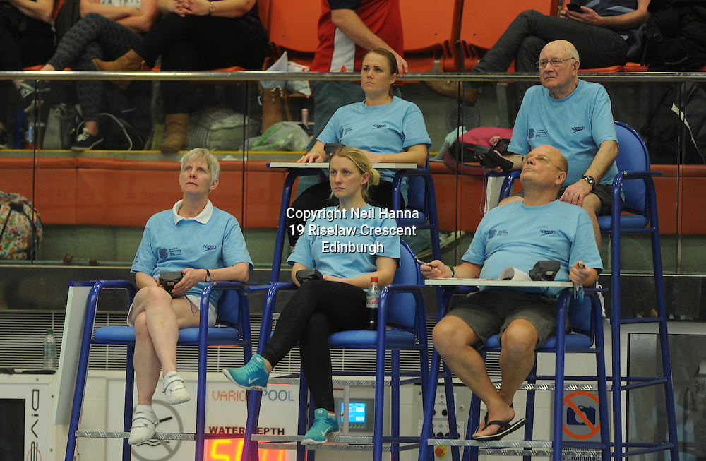 Scottish National Diving Championships &amp; Thistle Trophy 2015<br /> <br /> Royal Commonwealth Pool, Edinburgh<br /> <br /> Officials, medal ceremony<br /> <br /> <br />  Neil Hanna Photography<br /> www.neilhannaphotography.co.uk<br /> 07702 246823