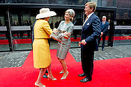 18-6-2015 WATERLOO - King Willem Alexander and queen Maxima Queen Mathilde of Belgium, King Philippe - Filip of Belgium and Prince Guillaume, hereditary Grand-Duke of Luxembourgand Prince Edward from England attent 200 years  ceremony to commemorate the bicentenary of the Battle of Waterloo at the Lion's Mound monument on the battle site. COPYRIGHT ROBIN UTRECHT<br /> 18-6-2015 WATERLOO - Koning Willem Alexander en Maxima koningin koningin Mathilde van Belgi&euml;, koning Philippe - Filip van Belgi&euml; en prins Guillaume, Groothertog Luxemburg, prins edward opmerkende ceremonie om de tweehonderdste verjaardag van de Slag van Waterloo herdenking aan de Lion's Mound monument op het slagveld. COPYRIGHT ROBIN UTRECHT