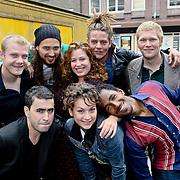 NLD/Amsterdam/20080820 - Persviewing het Schnitzelparadijs, Eva van Wijdeven, Tygo Gernandt, Micha Hulshof, Yahya Gaier , Jose Klaase, Arent Jan Linde, Eva van Wijdeven, Sanne Vogel, Arne Toonen